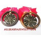 Wood Earrings Shell