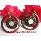 Wood Seashells Earrings