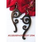Wooden Carvings Earrings