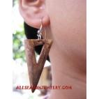Wooden Coconuts Earring