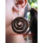 Wooden Coconuts Earrings