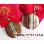 Wooden Earring Shell