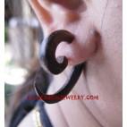 Wooden Earring Spiral