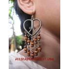 Wooden Earrings Metal