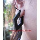 Wooden Earrings Piercings