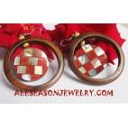 Wooden Seashells Earrings