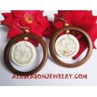 Wooden Shell Earrings