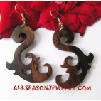 Woods Carving Earrings