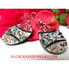 Earring Shell Handcrafted