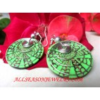 Fashion Shell Earring with Resin