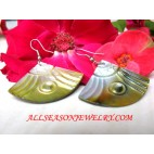 Sea Shell Earring Hand Carved
