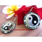 Ying Yang Chinese Motif Earring Fashion Seashells