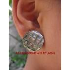 Earring Seashell Carvings