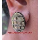 Earring Shell Carving Handmade