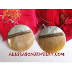 Earrings Golden Seashell