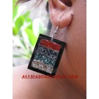 Earrings Seashell Coral