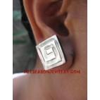 Earrings Shell Carving