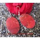 Earrings Shell Coral Organic
