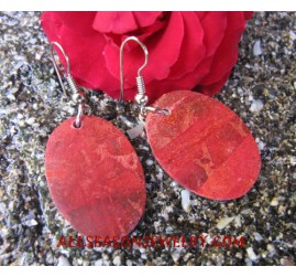 Earrings Shell Coral Organic