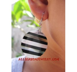 Earrings Shells Resin