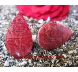 Handmade Coral Shell Earring