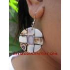 Pearl Purple Shells Earrings