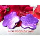 purple earrings Shell