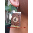 Resin Wooden Earring