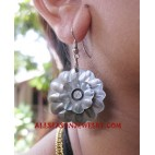 Shell Carving Drop Earring