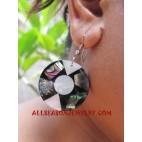 Seashell Earring Paua Ethnic