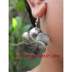 Seashell Earrings Carvings