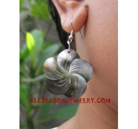 Seashell Earrings Carvings