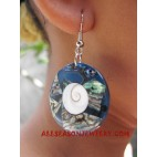 Seashell Earrings Paua