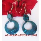 Seashell Earrings Blue Color