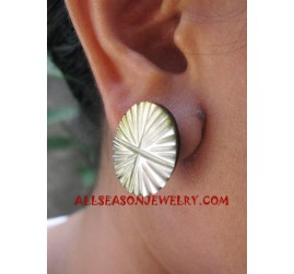 Seashells Earrings Carvings