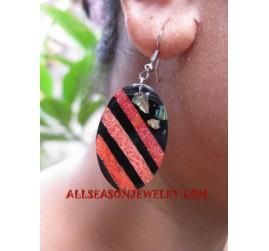 Shell Earring Coral Handmade