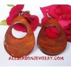 Shell Earrings Capiz Orange