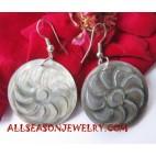 Shell Earrings Carvings