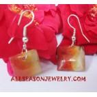 Shell Earrings Coral