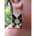 Shell Paua Earrings Motif