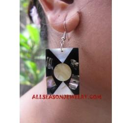 Shell Paua Earrings Motif
