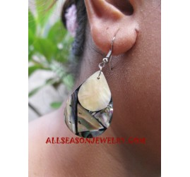 Shells Earrings Paua Handmade Bali