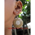 Stone Coral Shell Earring