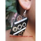 Wooden Shell Earring