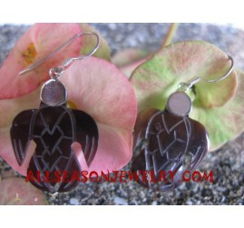 Carvings Silver Earring