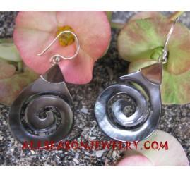 Carvings Silver Earrings