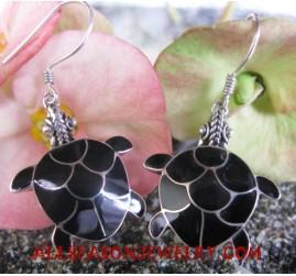 Earrings Seashells Silver