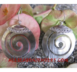 Earrings Silvers Carving
