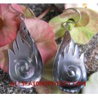 Earrings Silvers Seashells