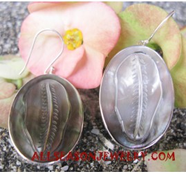 Seashell Earrings Silvers